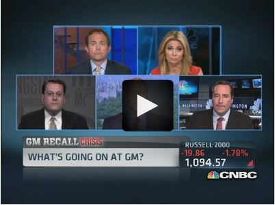 "CNBC Street Signs, ""The Impact of GM Recalls On Reputation"