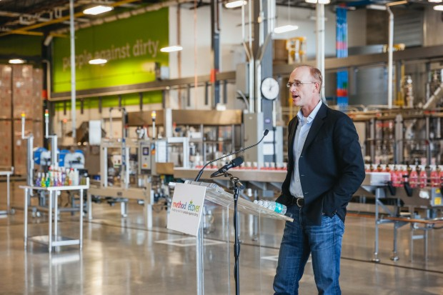 CEO, Drew Fraser, at Method's new Southside Soap Box manufacturing facility