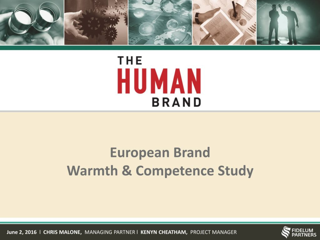 European Brand Warmth & Competence Study